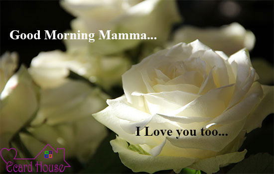 Good Morning Mamma I love you too