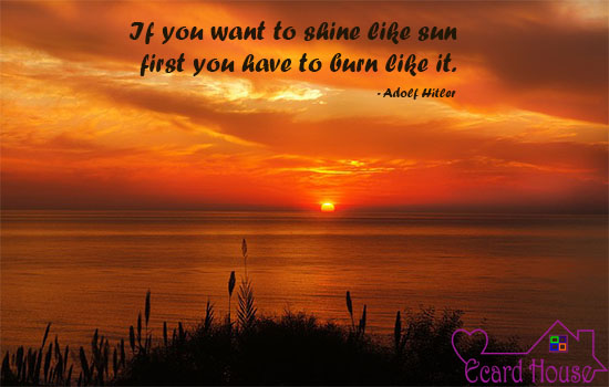 Burn First To Shine Later